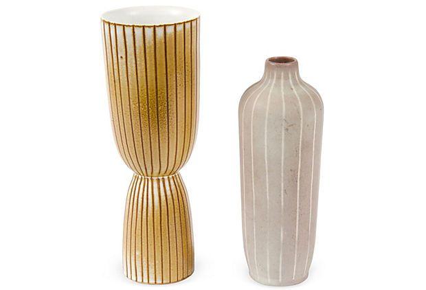 Tall Modern Vases Set Of 2 On Onekingslane Soma Loft Interior