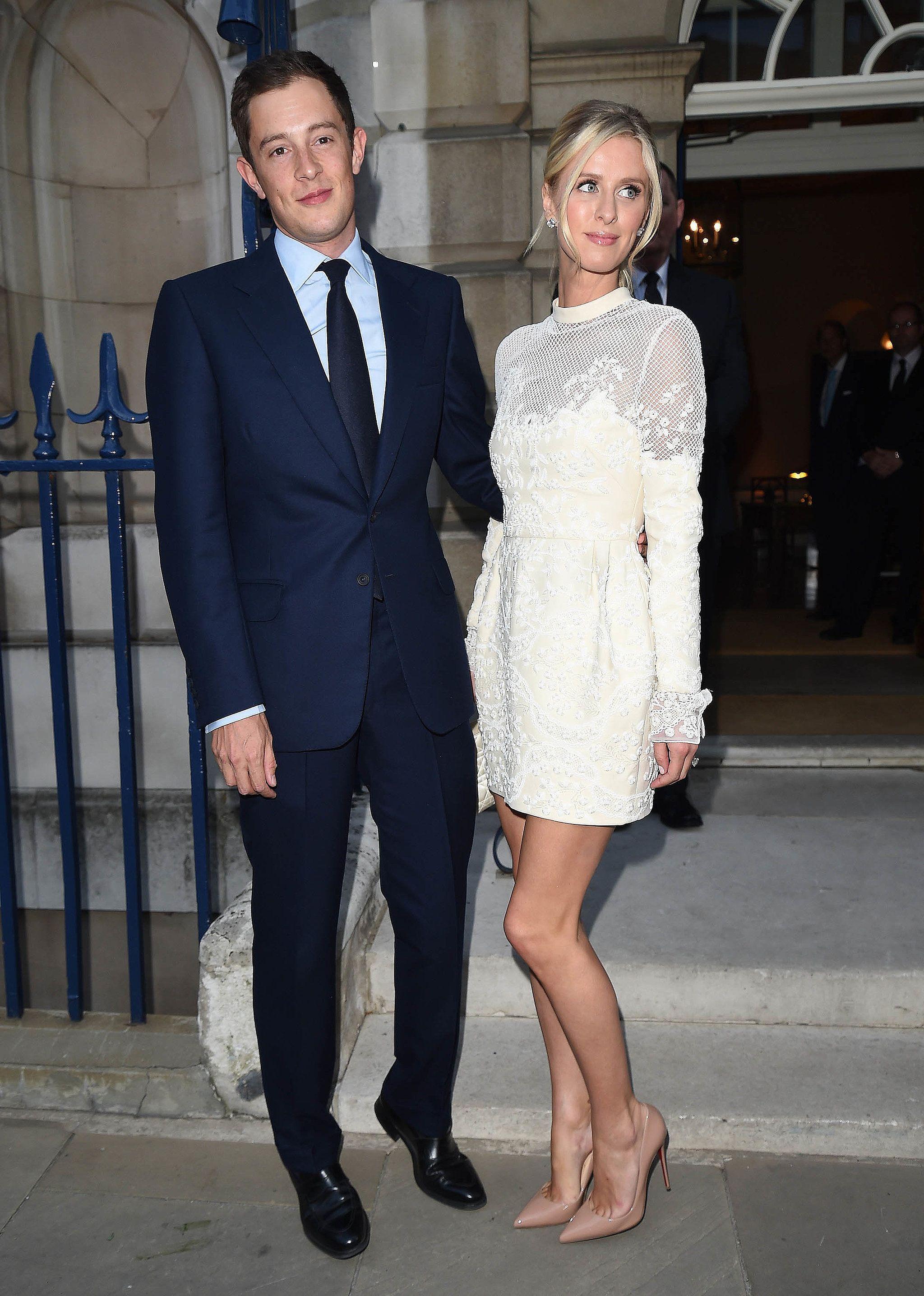 Nicky hilton and her fiancé step out for a prewedding dinner nicky