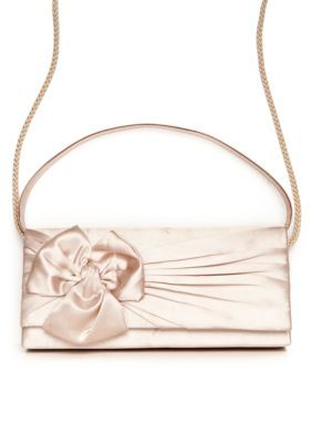 de53d768f JESSICA MCCLINTOCK East West Satin Gathered Bow Clutch | Products ...