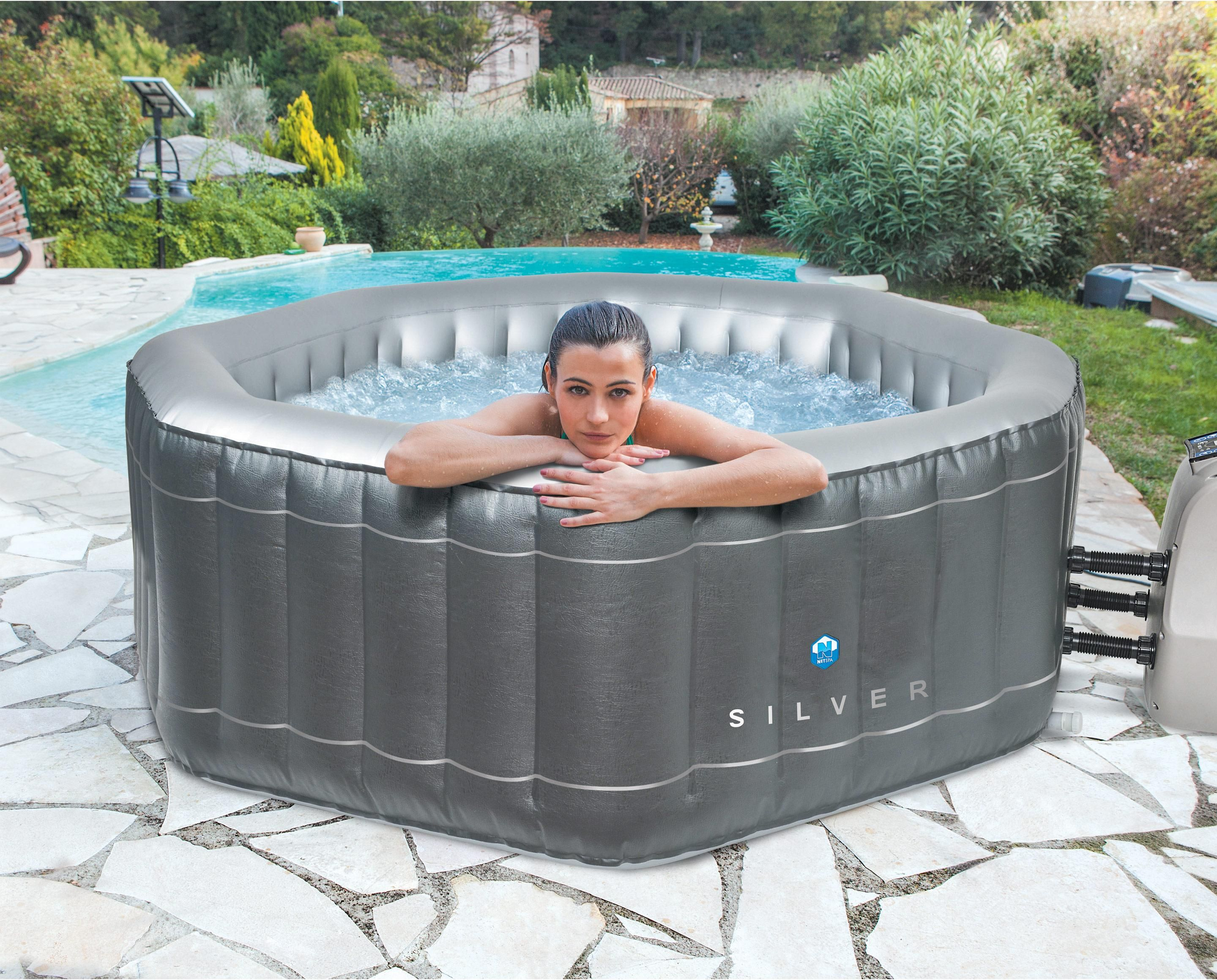 Jacuzzi Gonflable Leroy Merlin spa gonflable poolstar silver octogonal | spa gonflable, spa