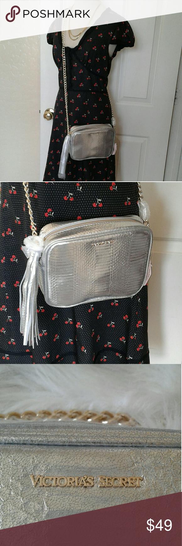 Victoria's secret purse Alike snake skin silver Victoria's secret purse  8.5 wide 6.5 length 23 strap drop. Victoria's Secret Bags Crossbody Bags