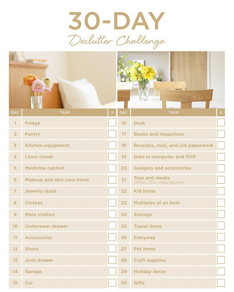New Year S Resolutions For Your Home View From The Front Porch Declutter Challenge Organizing Challenges Declutter