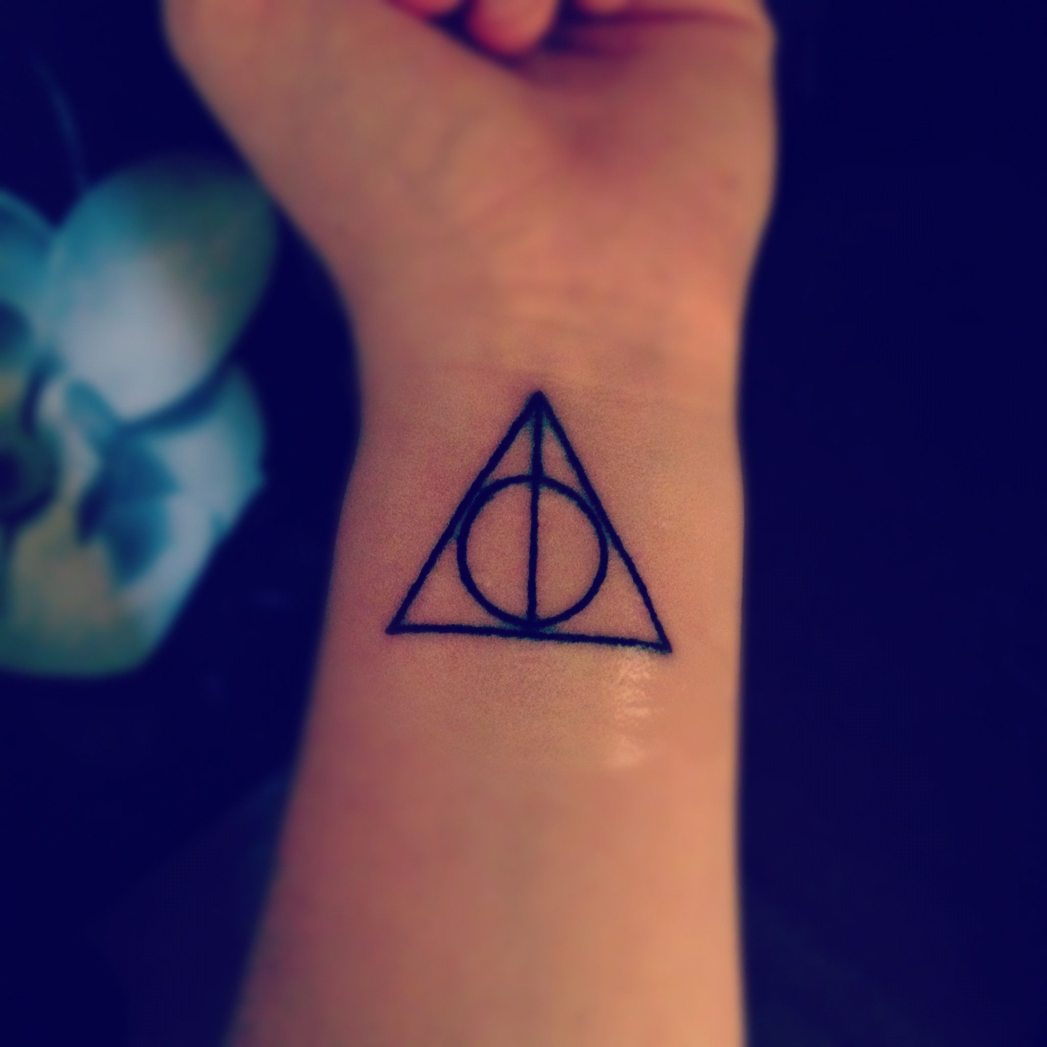Just got this tattoo today the deathly hallows symbol from harry the deathly hallows symbol from harry potter to some biocorpaavc Images