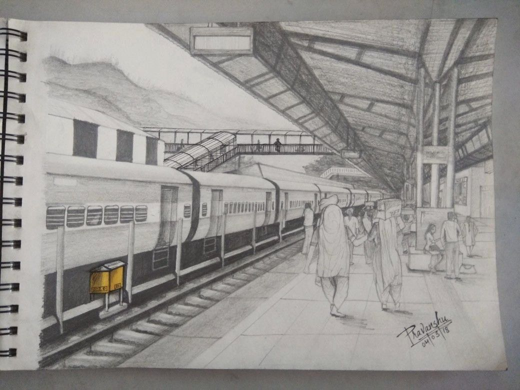 Nata Perspective Drawing Book Awesome Railway Station E