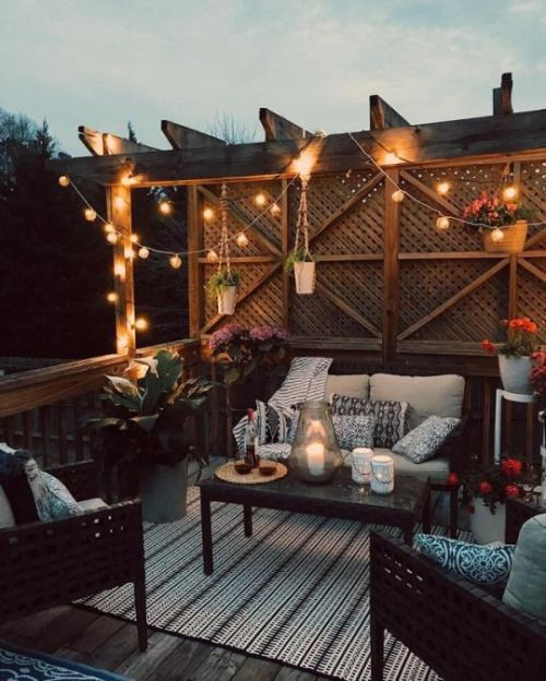 I Would Love To Wind Down After Work On This Cozy Outdoor Patio Places Interior Design Concepts And Decor Ideas