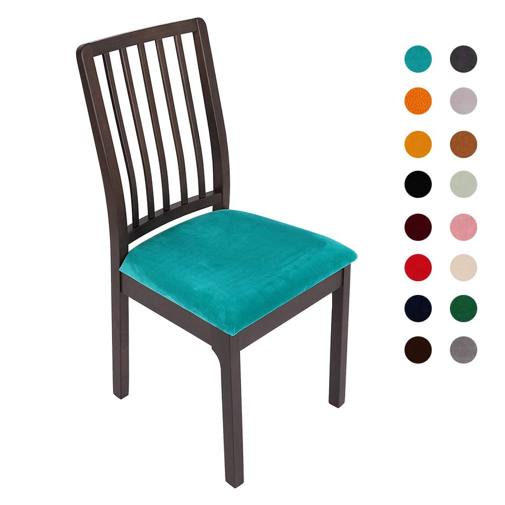 Soft Velvet Stretch Fitted Dining Chair Seat
