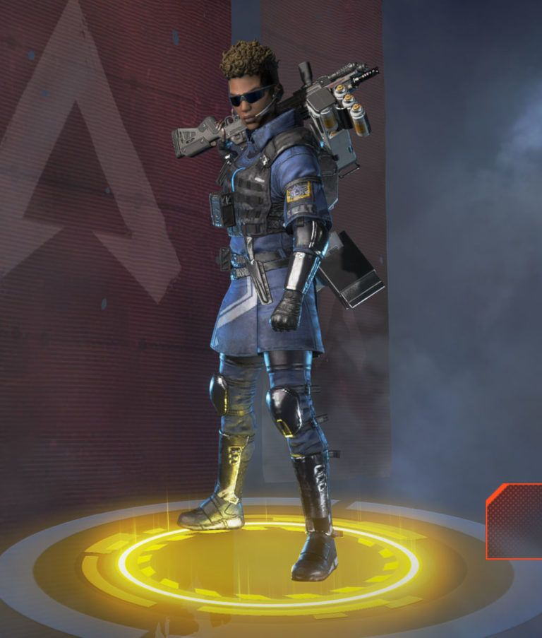 The Enforcer skin for Bangalore in Apex Legends! stop