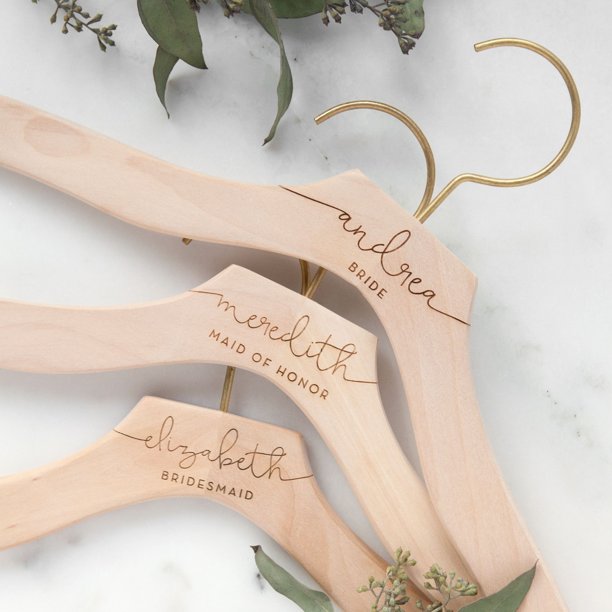 Custom bridal hangers bridal party gifts pinterest bridal