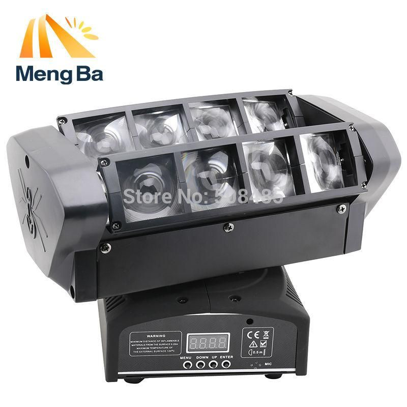 2pcs Led 8 10w Rgbw Cree Beam Light 8 Eyes Mini Spider Light Dmx512 Moving Head Light Dj Fest Home Bar Stage Party Spider Light Beams Cree
