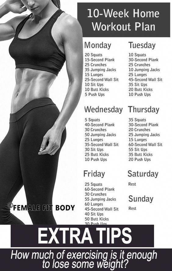 No-Gym Home Workout Plan.    workout   work hard for what you want   fitness    ... - #FITNESS #Hard...