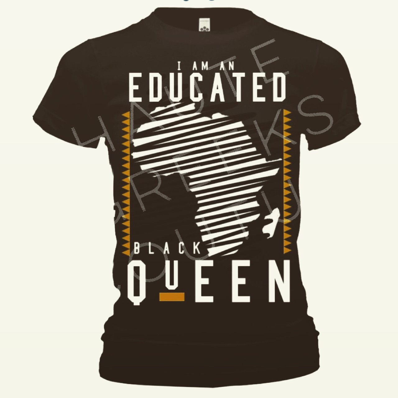 Black queen t shirt - Educated Black Queen Fitted Shirt Blk