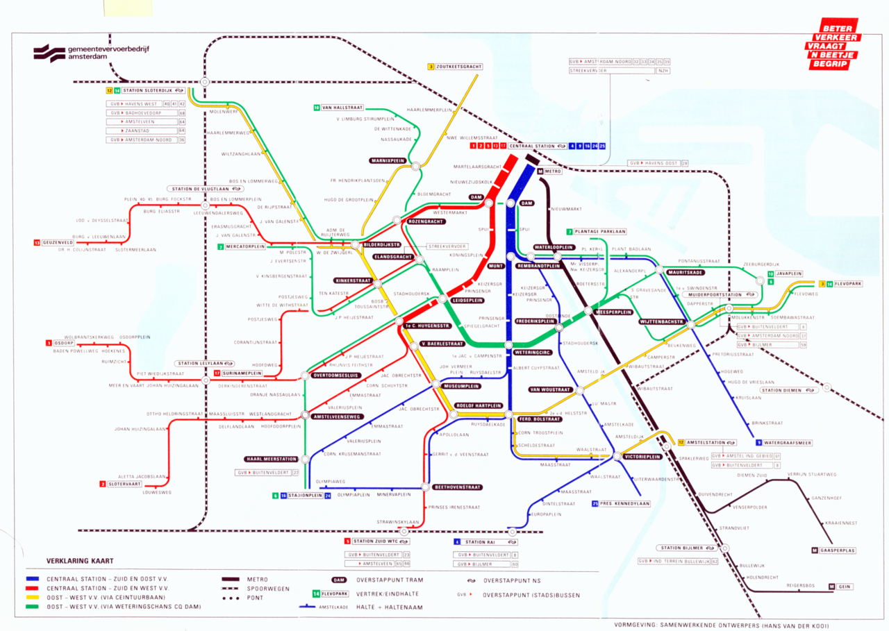 Submission Historical Map Amsterdam GVB Map By Hans Van Der - Geneva tram map