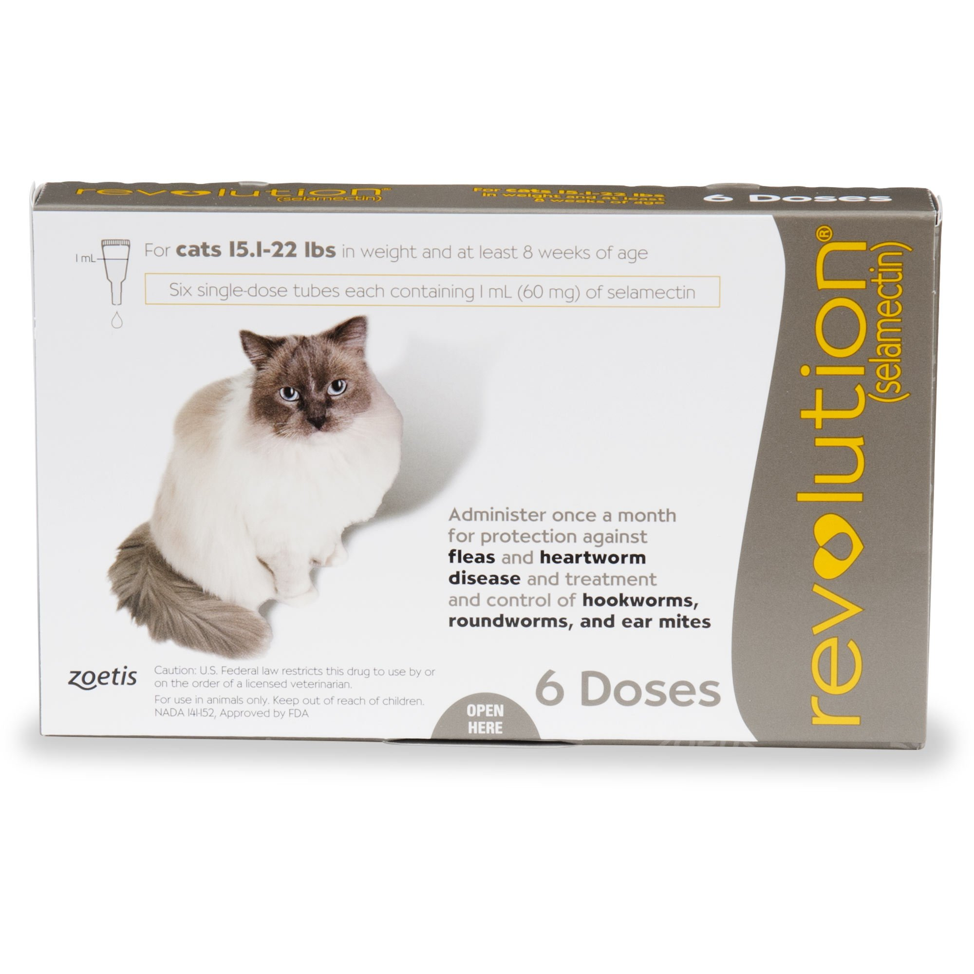 Revolution Topical Solution For Cats 15 1 22 Lbs Taupe 6 Pack
