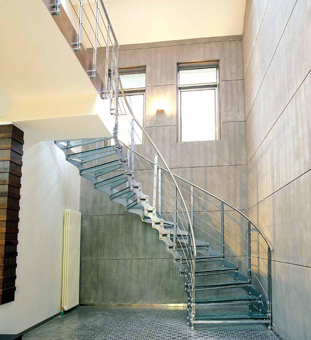 Exterior De Caracol Escalera Escalera De Acero