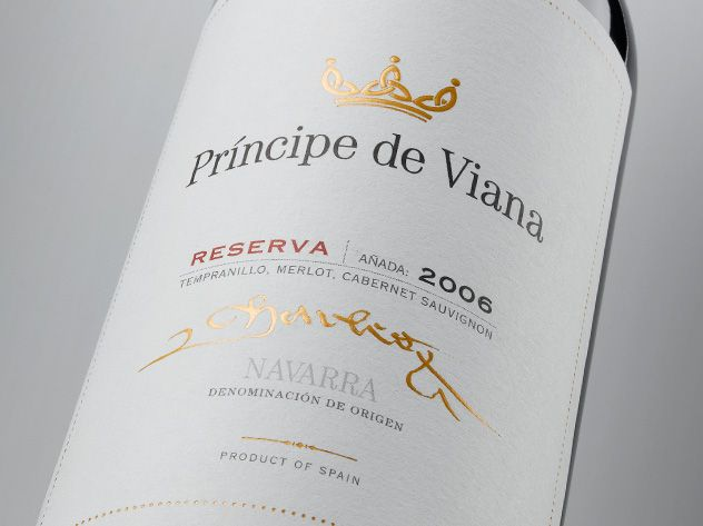 Etiqueta Príncipe de Viana reserva