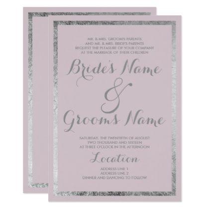 Modern blush lavender faux silver glam wedding card wedding card modern blush lavender faux silver glam wedding card wedding card lavender and weddings stopboris Images