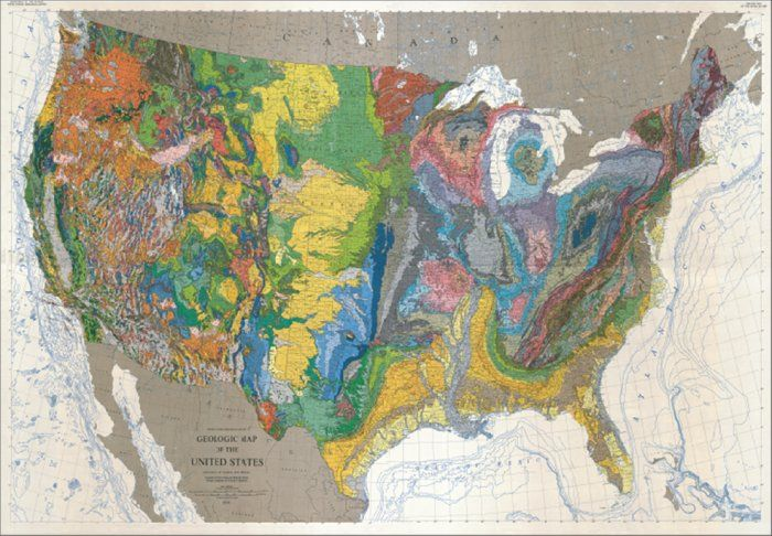 Geologic Map Of The United States Maps Rocks Other Cool Stuff - Early us geological mapping