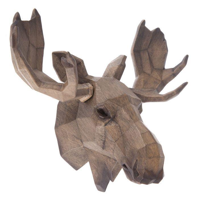 5e8f107abb19 Geometric Moose Head Wall Decor