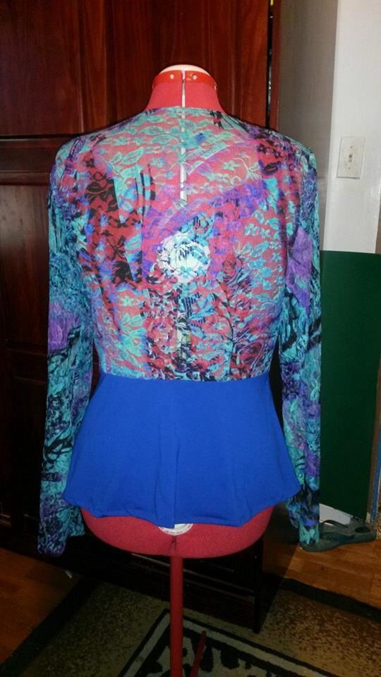 (The back) it looks much better on me I will post a pic with me in it after I make leggings to go with it