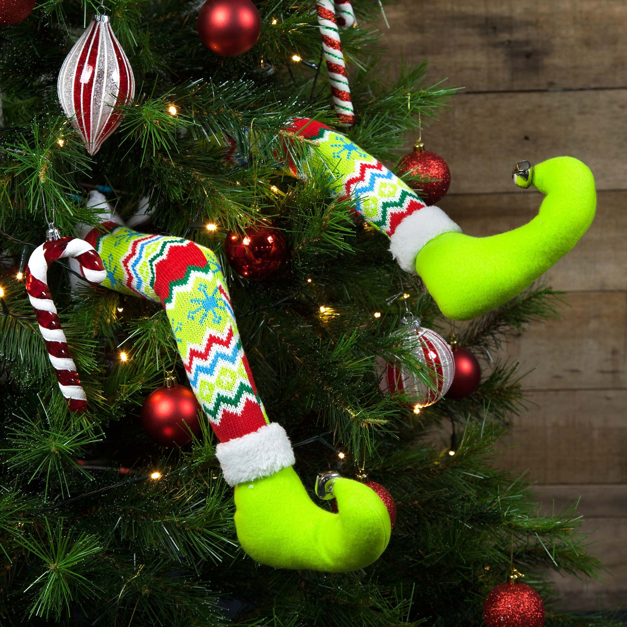 fun christmas elf leg decorations perfect to put in the christmas tree for a fun look - Elf Legs Christmas Decoration
