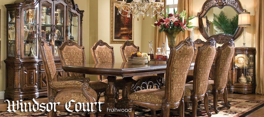 Michael Amini Windsor Courty Table Fruitwood North Carolina