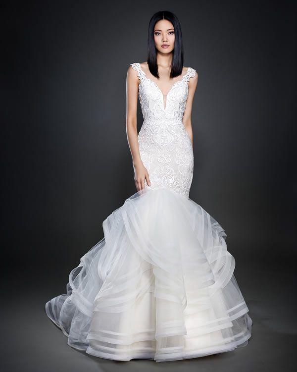 vestidos de novia lazaro 2017 | bellas prendas de vestir | pinterest