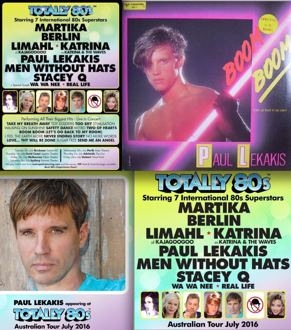 Paul Lekakis Australia Tour July 2016 Totally 80s