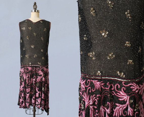 RESERVED Amazing 1920s Dress / 20s French by GuermantesVintage