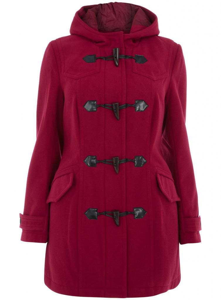 22196aed3ddde Evans Plus Size Red Duffle Coat
