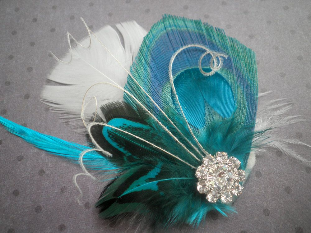Wedding Hair Accessories, Peacock Bridal Fascinator
