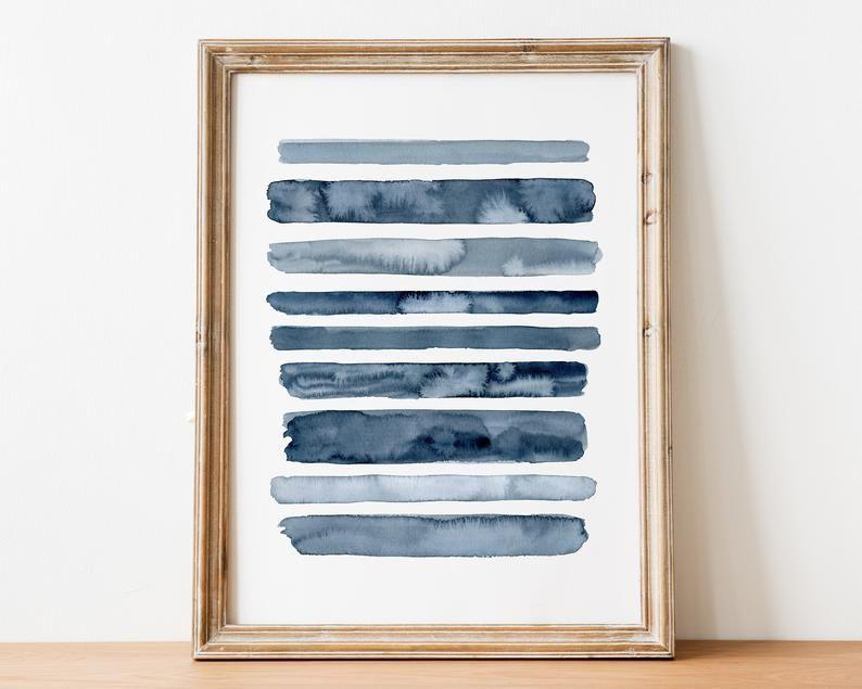 Printable Indigo Blue Abstract Art Etsy Blue Abstract Art Blue Abstract Slate Blue Walls