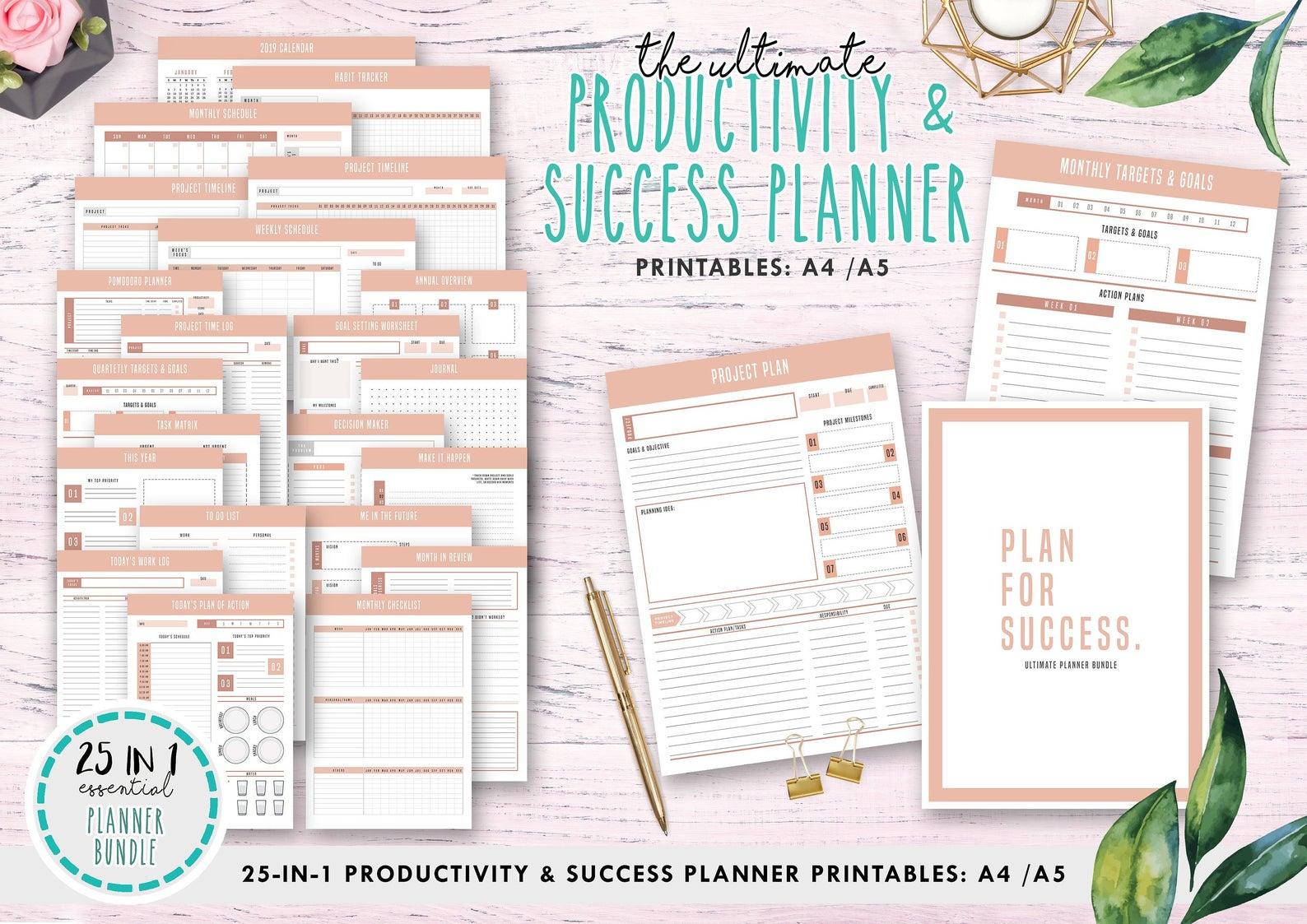 The Ultimate Productivity Amp Success Planner Intable