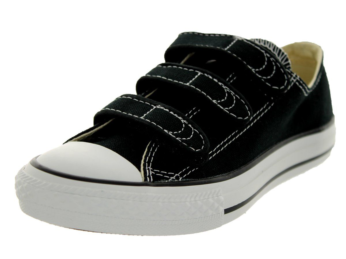 c8d1cae20c9a Converse Chuck Taylor All Star Lo Top Little Kids Velcro 3 Strap Black size  13