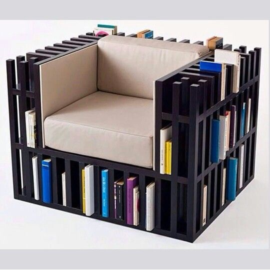 Book Chair Products I Love Pinterest - Bookchair combined with bookshelf