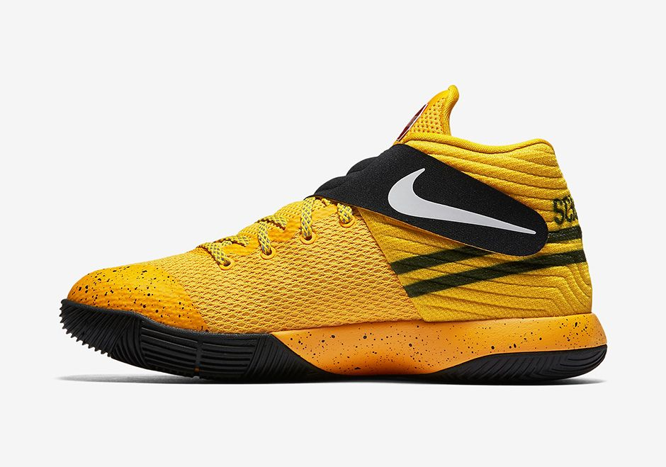 85b69856292 The Kyrie 2 School Bus is available today in youth sizes only. The yellow  and…