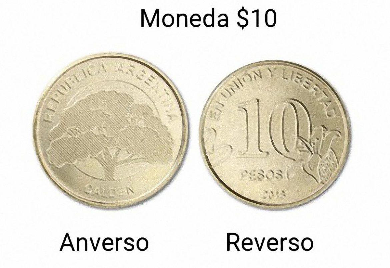 El Calden El Arbol De La Pampa En La Moneda De 10 Monedas De 10 Monedas