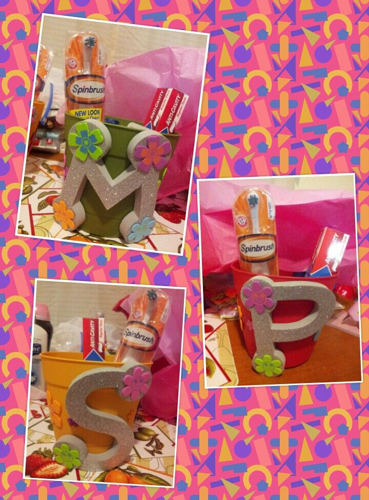Teacher gifts, used my couponing items all I paid was $6 to make the flower pots :-D