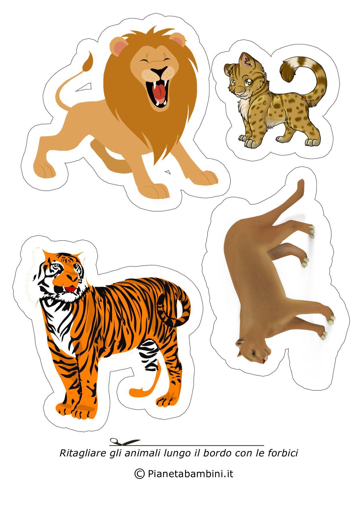 Disegni Di Animali Da Ritagliare E Incollare Per Bambini