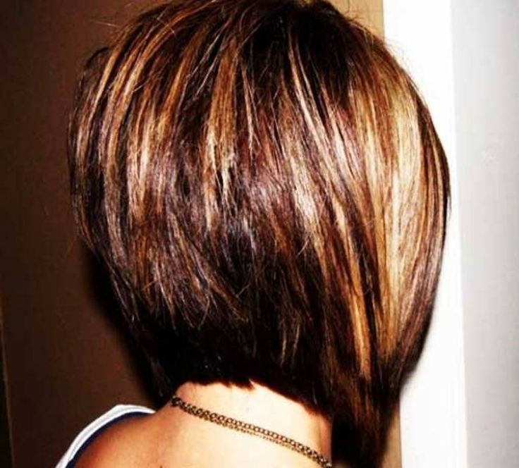Pretty Highlights In Brown Hair With An Inverted Bob Haircut Google Search