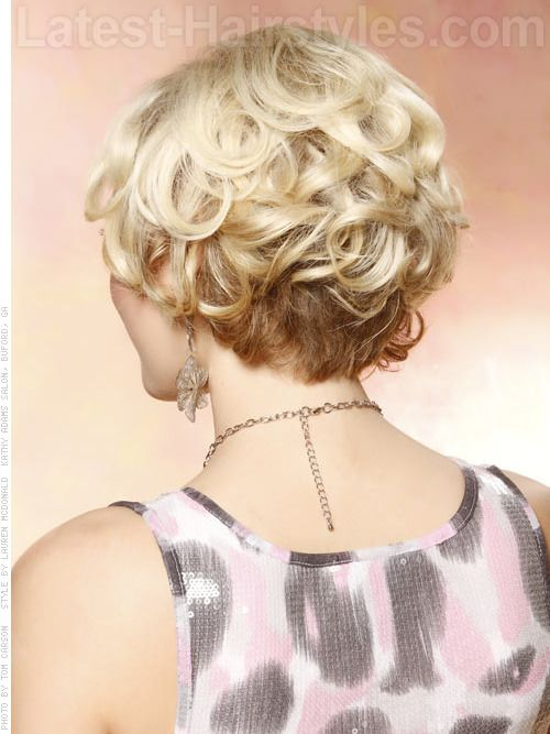Curly Bob Hairstyle Back View | Back View Of Short Curly Hairstyles Photo | Short hair styles ...