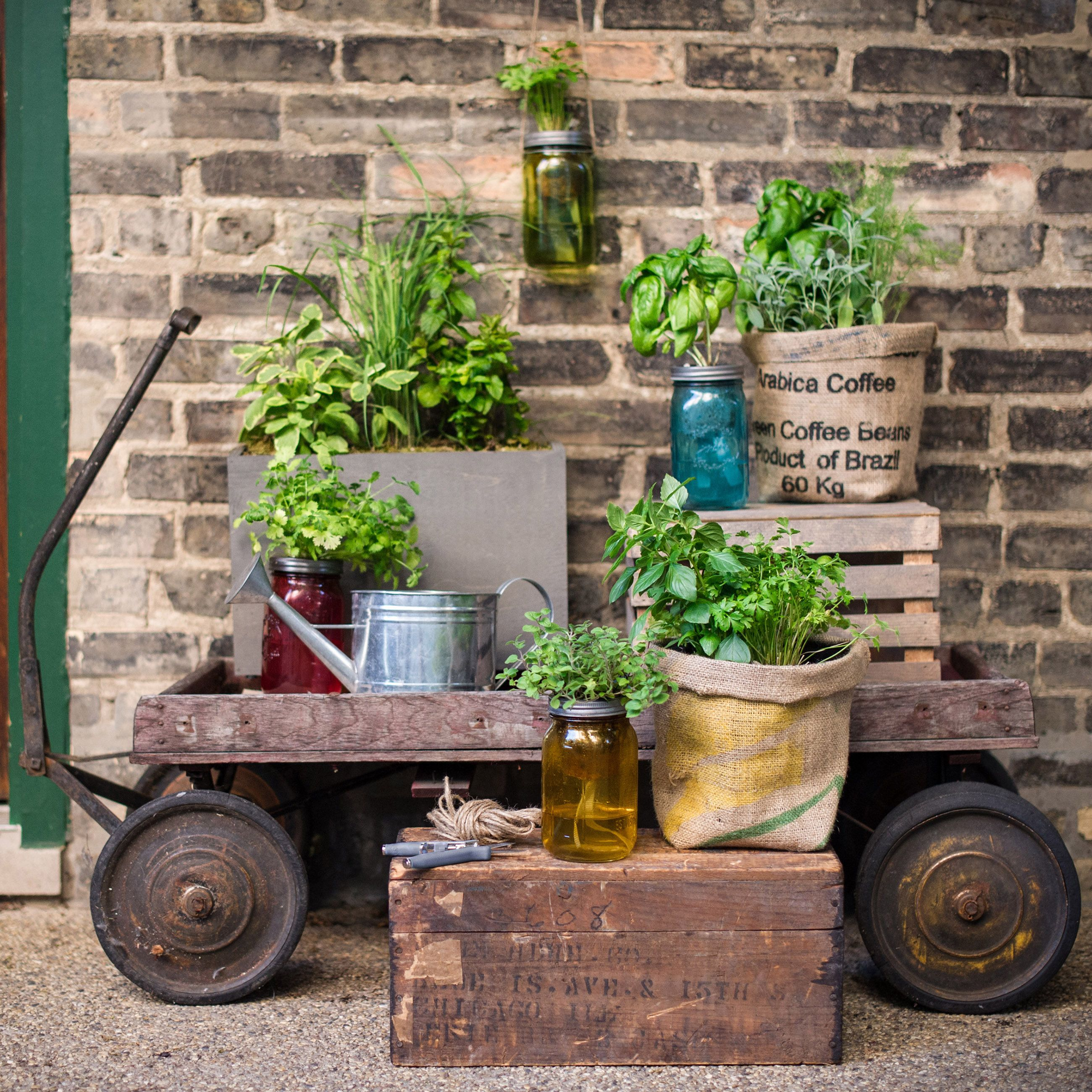 Garden Jars Are Self Watering Herb Kits That Feature A Vintage Inspired Quart Mason