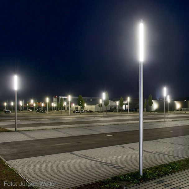 contemporary light column stainless steel polycarbonate led