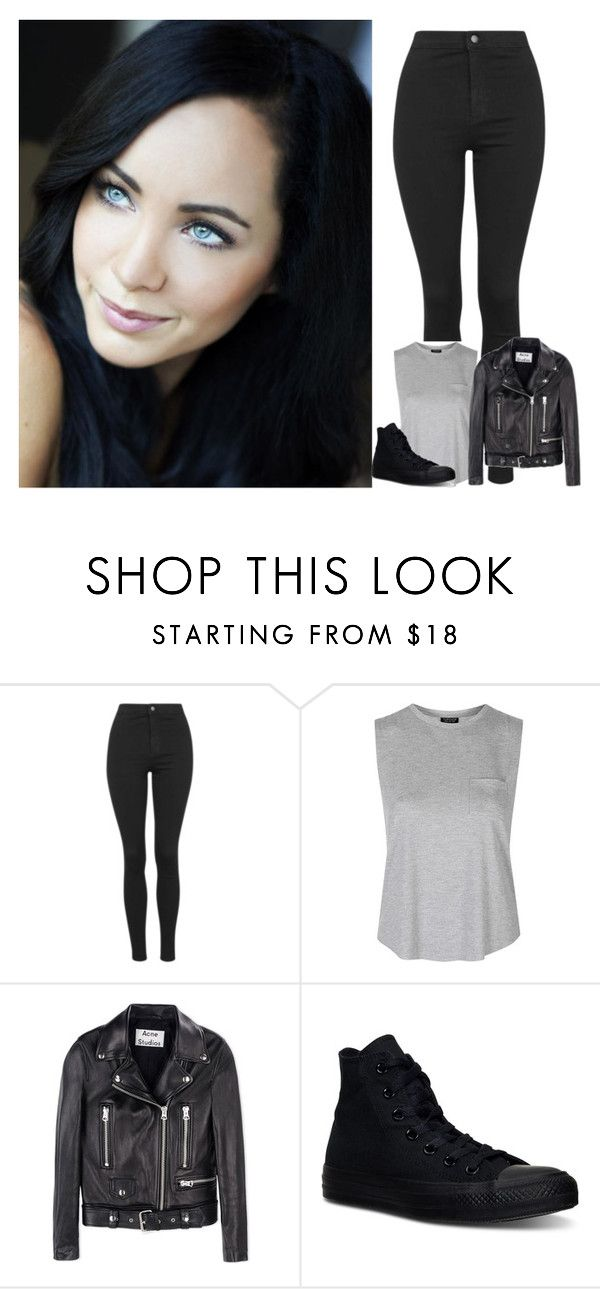 """Elena Gilbert"" by dj1direction ❤ liked on Polyvore featuring Mode, Topshop, Acne Studios, Converse, women's clothing, women, female, woman, misses und juniors"