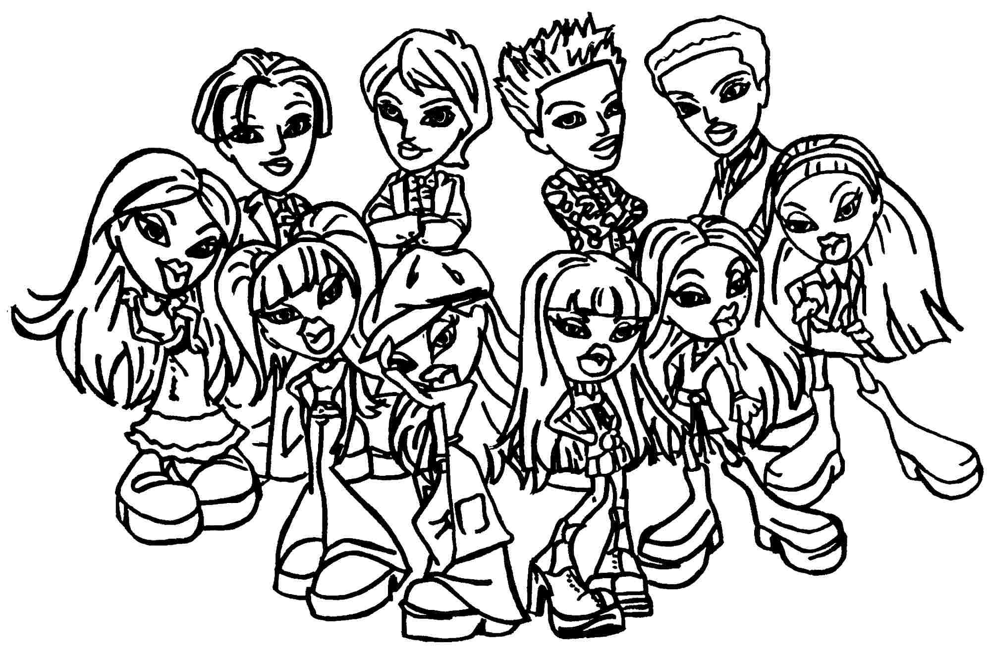 bratz printable coloring pages how to