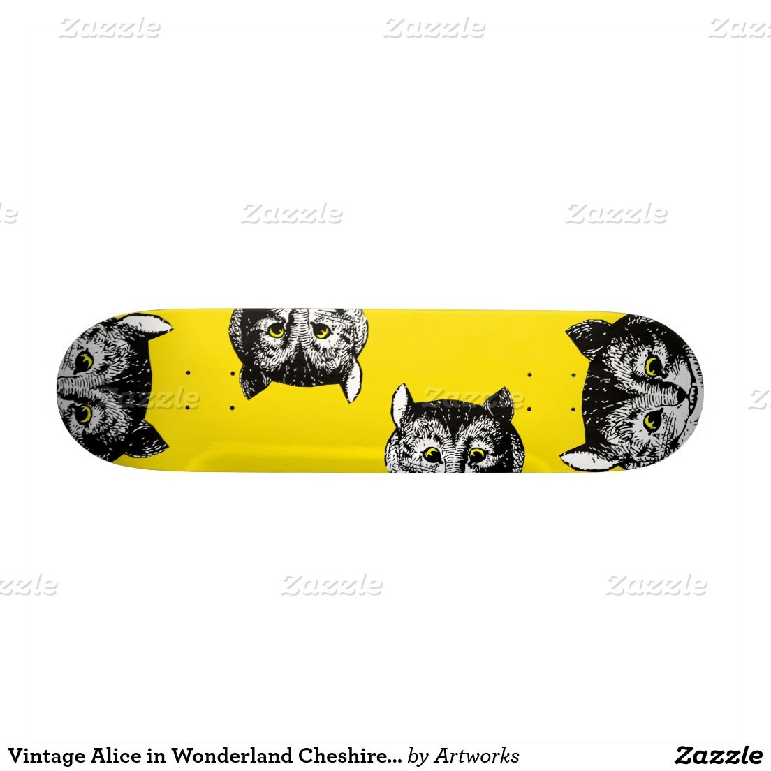 Vintage Alice in Wonderland Cheshire Cat Art Deck Skateboard | Alice ...