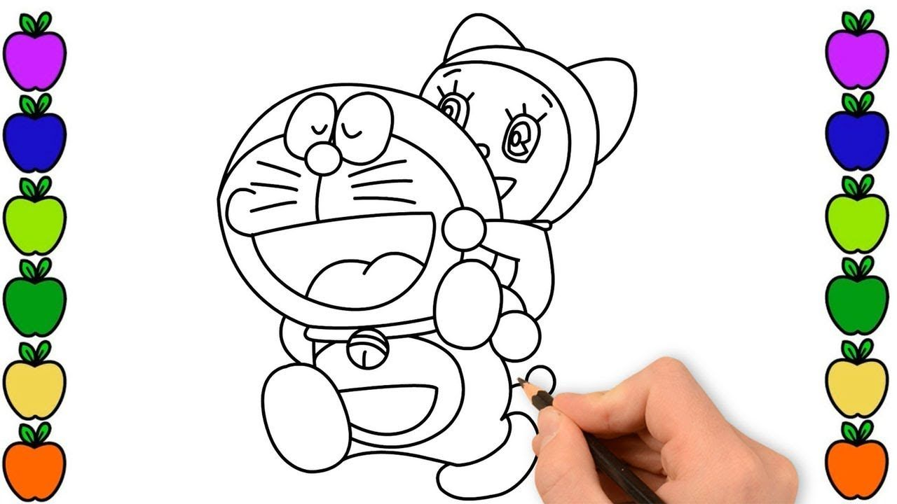 Doraemon And Dorami Coloring Pages For Kids Doraemon