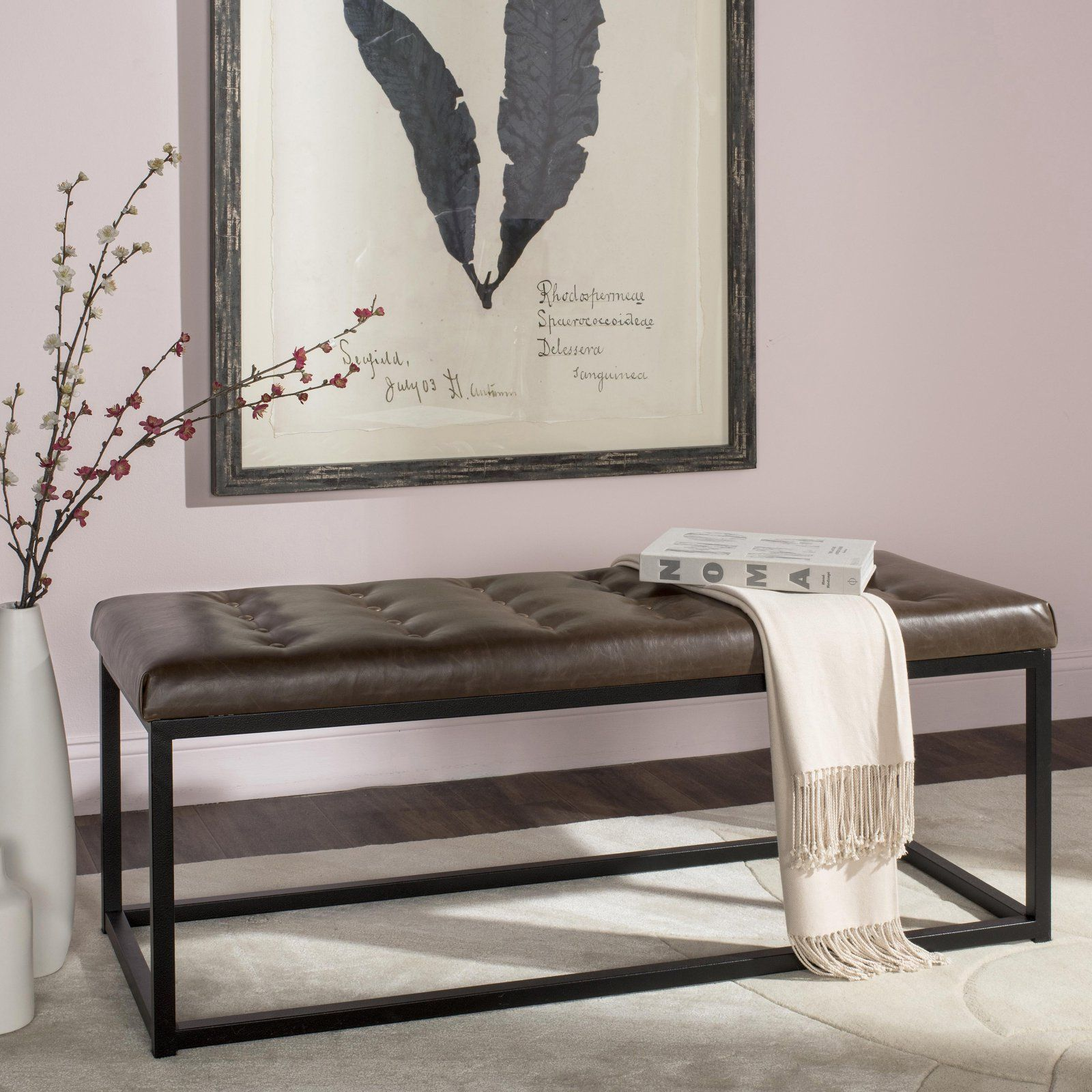 Super Safavieh Reynolds Faux Leather Bench In 2019 Products Inzonedesignstudio Interior Chair Design Inzonedesignstudiocom
