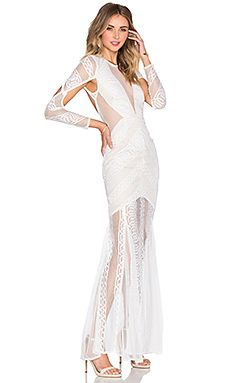 074ceb7cb490 Shona Joy Ambrosia Backless Maxi Dress in White   Nude