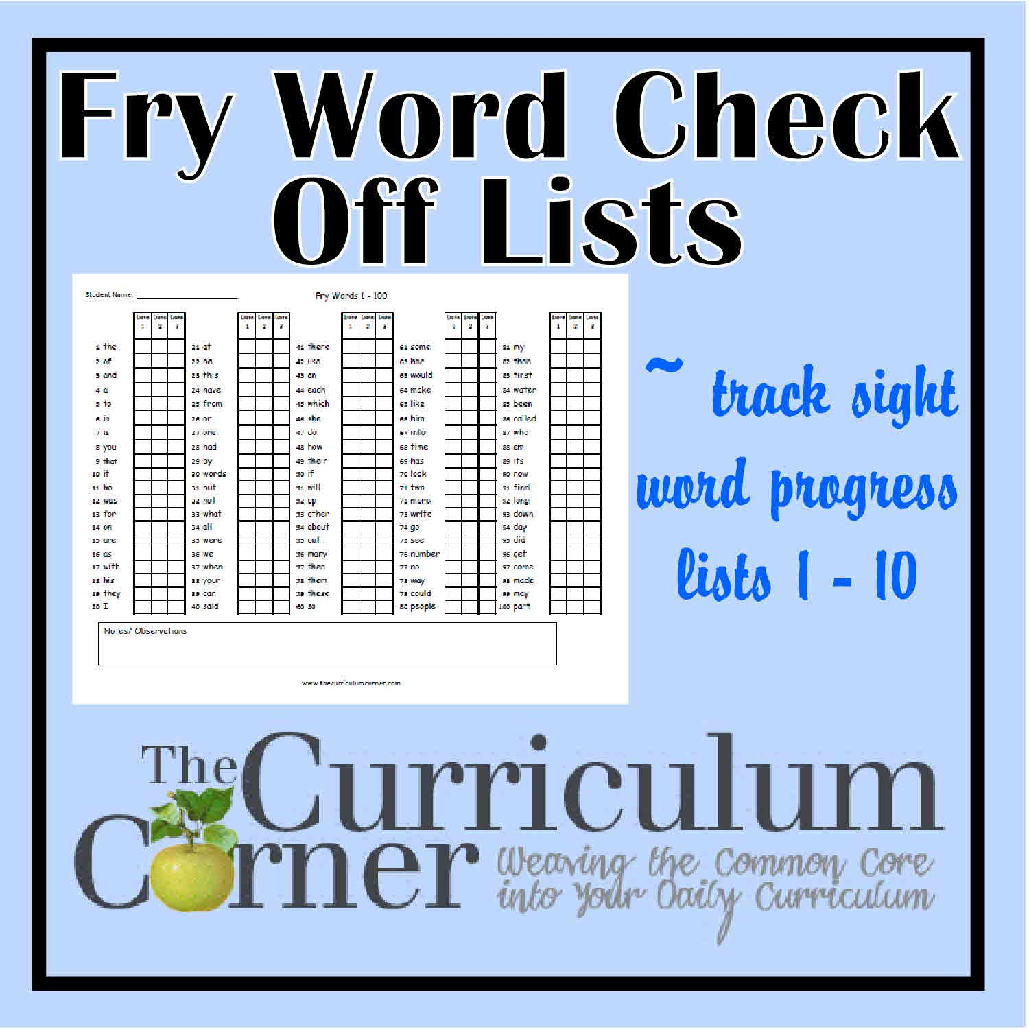 This is a picture of Nifty Fry Phrases Printable