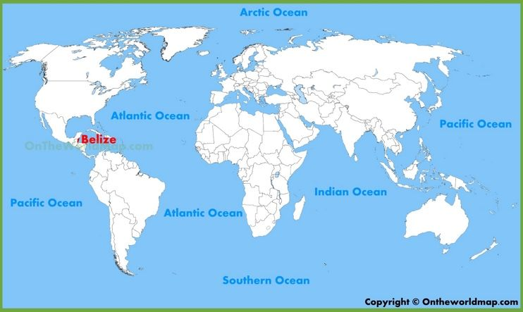Belize location on the World Map